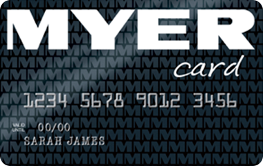 Myer Black card